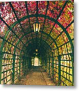 Red Tunnel Metal Print