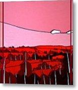 Red Tuscan Longview Metal Print