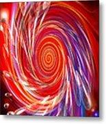 Red Twirl Metal Print