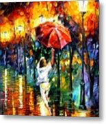 Red Umbrella Metal Print