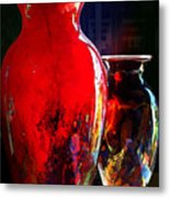 Red Vase Metal Print