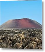 Red Volcano Metal Print