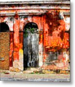 Red Wall By Darian Day Metal Print