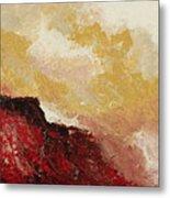 Red Waves Metal Print