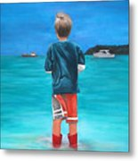 Red Wellies Metal Print