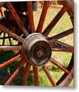 Red Wheels Metal Print