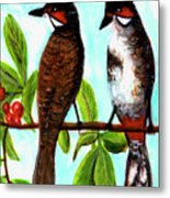 Red-whiskered Bulbul Bird, #246 Metal Print