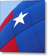 Red White And Blue Balloon Metal Print