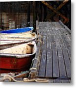 Red, White, And Blue Dingys Metal Print