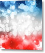 Red White And Blue Metal Print
