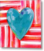 Red White And Blue Love- Art By Linda Woods Metal Print