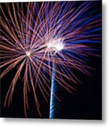 Red White And Boom Metal Print