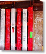 Red White And Fish Shack Metal Print