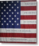 Red White And True Metal Print