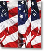 Red White Blue - American Stars And Stripes Metal Print