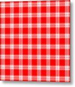 Red White Tartan Metal Print