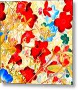 Red Wild Flowers Metal Print