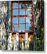The Red Window Metal Print
