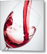 Red Wine Metal Print