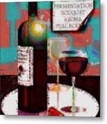 Red Wine For Two Metal Print
