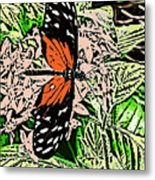 Red Winged Butterfly Metal Print