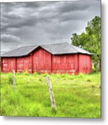 Red Wood Barn - Edna, Tx Metal Print