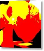 Red Yellow Abstract Metal Print