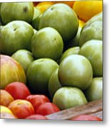 Red Yellow Green Metal Print by Alan Todd