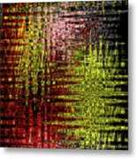 Red Yellow White Black Abstract Metal Print