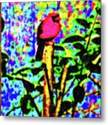 Redbird Dreaming About Why Love Is Always Important Metal Print
