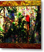 Redbird Sifting Beauty Out Of Ashes Metal Print