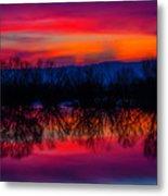 Reddening Sunset Metal Print