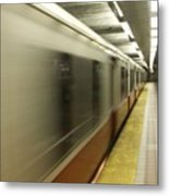 Redline In Motion Metal Print