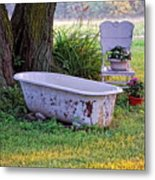 Redneck Hot Tub Metal Print