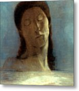 Redon: Closed Eyes, 1890 Metal Print