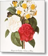 Redoute: Bouquet, 1833 Metal Print by Granger