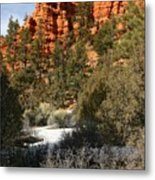 Redrock Winter Metal Print
