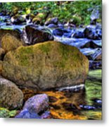 Reeder Creek From Under The Bridge Metal Print