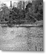 Reeds And Religion Black And White Metal Print