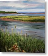 Reeds By The Water Metal Print