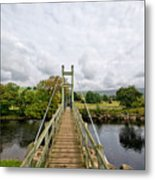 Reeth Swing Bridge Metal Print