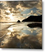 Reflected Costa Rica Sunset Metal Print