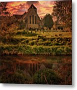 Reflected In The Stour Metal Print