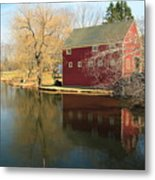 Reflectiion In Red Metal Print