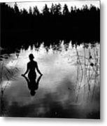 Reflecting Beauty Bow Metal Print