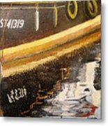 Reflecting Boat  Metal Print