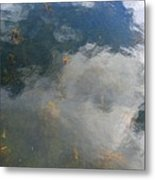 Reflecting Clouds In The Water  Metal Print