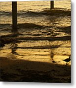 Reflecting Gold Metal Print