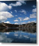 Reflecting On Crater Lake Metal Print