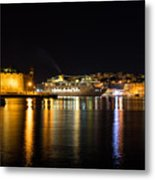 Reflecting On Malta - Cruising Out Of Valletta Grand Harbour Metal Print